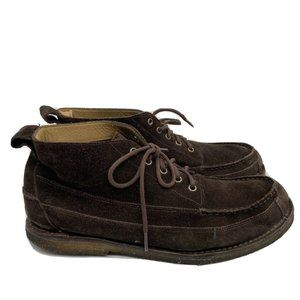 LL Bean Mens Suede Chukka Ankle Boots Brown